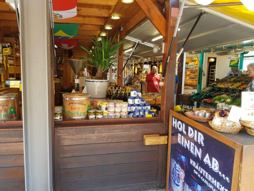 Markt auf dem Carlsplatz in Düsseldorf von Cityfreizeit